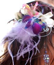 purple orchid prom hair clip