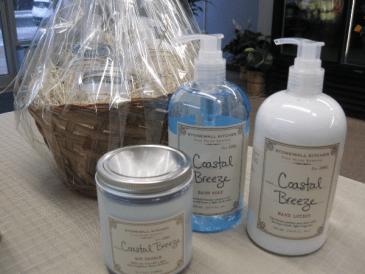kitchen hand soap vacuum stonewall lotion and candle coastal breeze gift basket