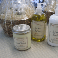 Kitchen Hand Soap Ikea Shelving Stonewall Lotion And Candle Lemon Parsley Gift Basket
