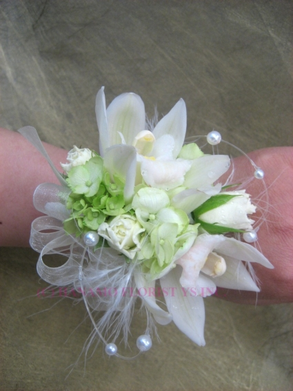 White Orchid Wrist Corsage