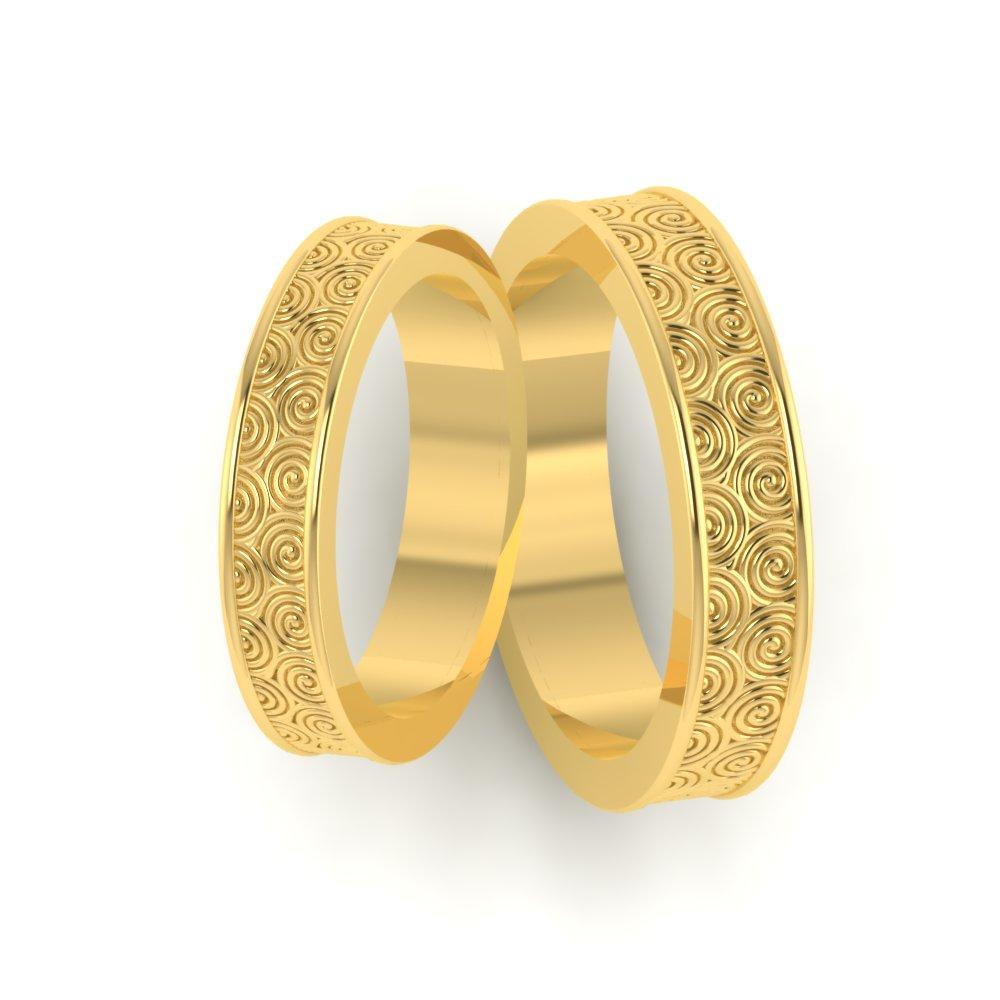 Circle Pattern Custom Wedding Ring