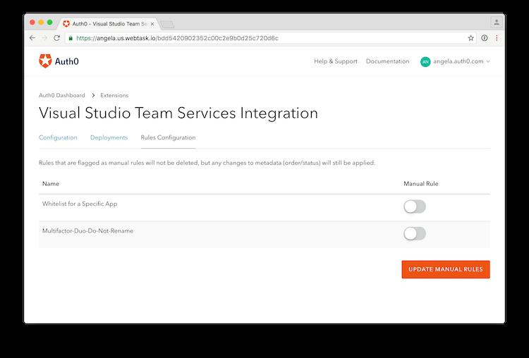 Visual Studio Team Services Deployments