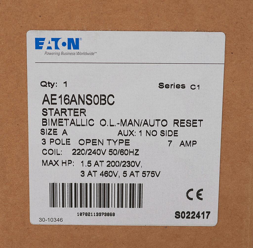 IEC Motor Starter: 7A. 240 VAC (60Hz)/220 VAC (50Hz) coil voltage (PN# AE16ANS0BC) | AutomationDirect