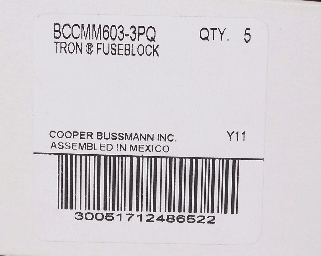Modular Combination Fuse Block: 30A, 3-pole (PN# BCCMM603