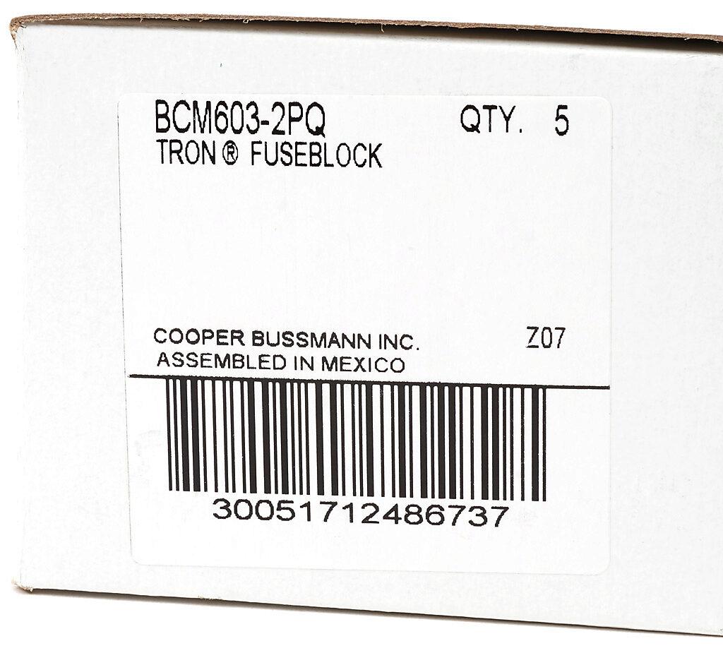 Modular Fuse Block: 30A, 2-pole (PN# BCM603-2PQ
