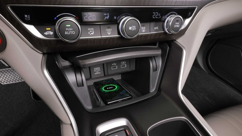 honda accord hybrid wireless cell charger