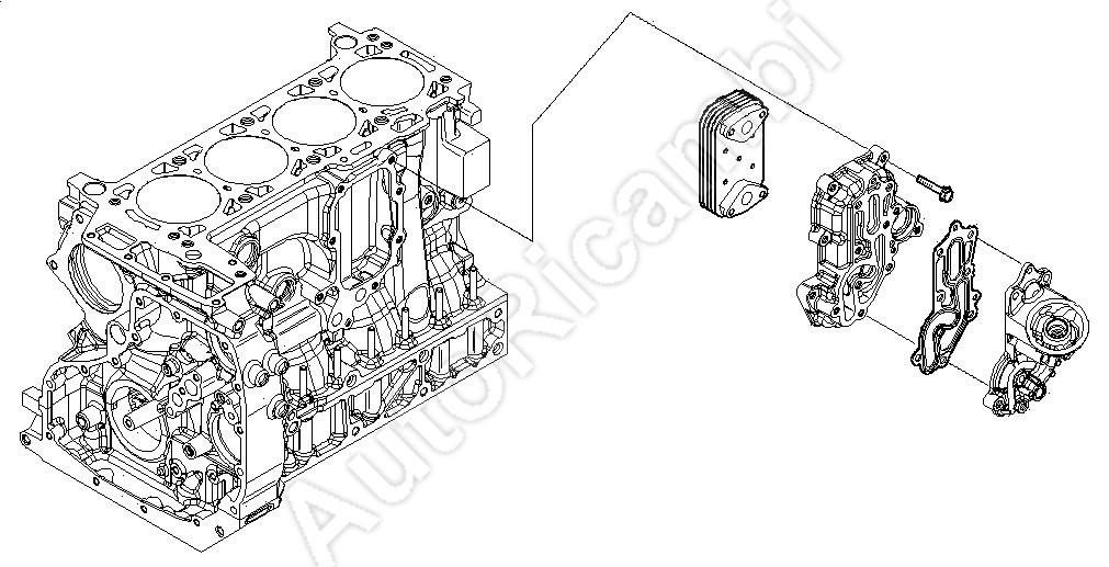 Tesnenie olejového chladiča Iveco Daily, Fiat Ducato 3,0