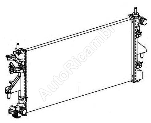 1362308080 Water radiator Fiat Ducato 250 2,3 (780*378*34