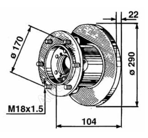 504079365 Brake disc Iveco Daily 2000 35C, 50C front, from