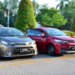 Toyota Yaris Trd Malaysia Grand New Avanza Vs Veloz Vios 2017 Driving Impressions Autoworld Com My The Old Left Versus Right