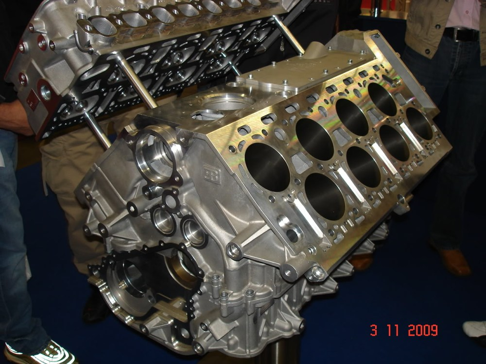 medium resolution of the bare block of a veyron engine showing the cylinder configuration