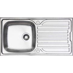 Single Bowl Stainless Kitchen Sink Signs For Work Steel Drainer