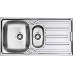 Ss Kitchen Sinks Cost Of Replacing Cabinets Stainless Steel 1 2 Bowl Sink Drainer