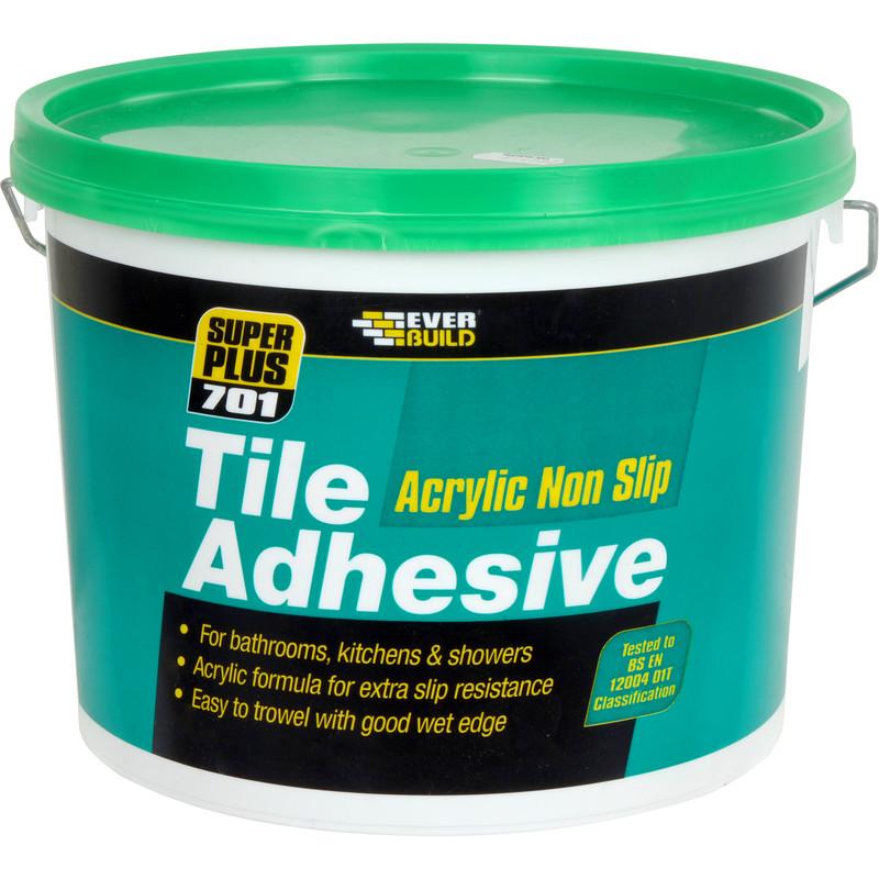 everbuild 701 non slip wall tile adhesive 3 75kg