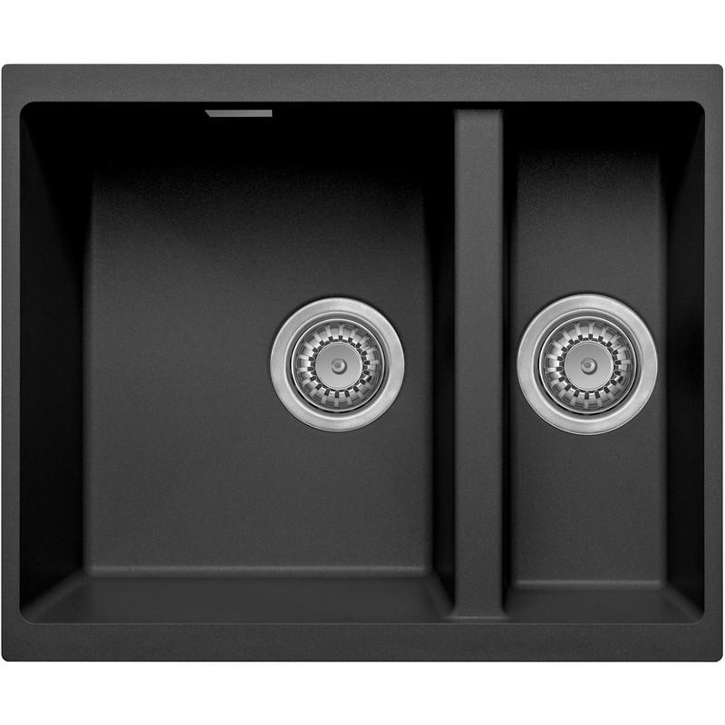 granite composite undermount kitchen sink 1 5 bowl black