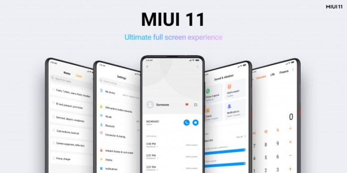 """MIUI 11's interface is built for the """"Ultimate full screen experience"""""""