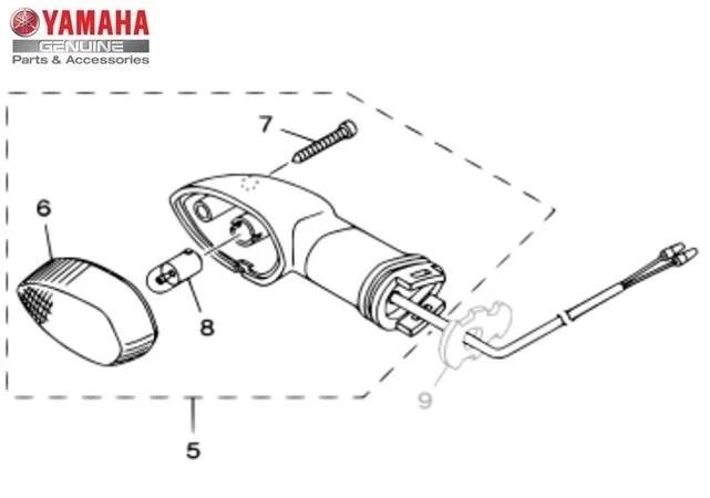 Pisca Dianteiro Direito Conjunto (Lente Laranja) Yamaha XT