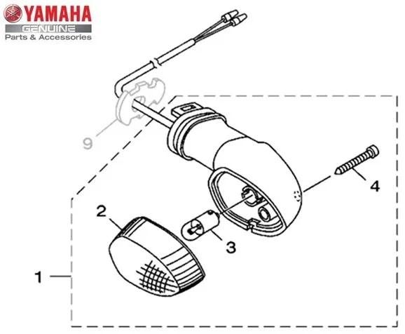 Pisca Dianteiro Esquerdo Conjunto (Lente Cristal) Yamaha
