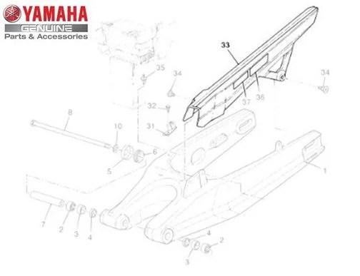 Capa da Corrente do Garfo Traseiro para Yamaha XT 660 Z