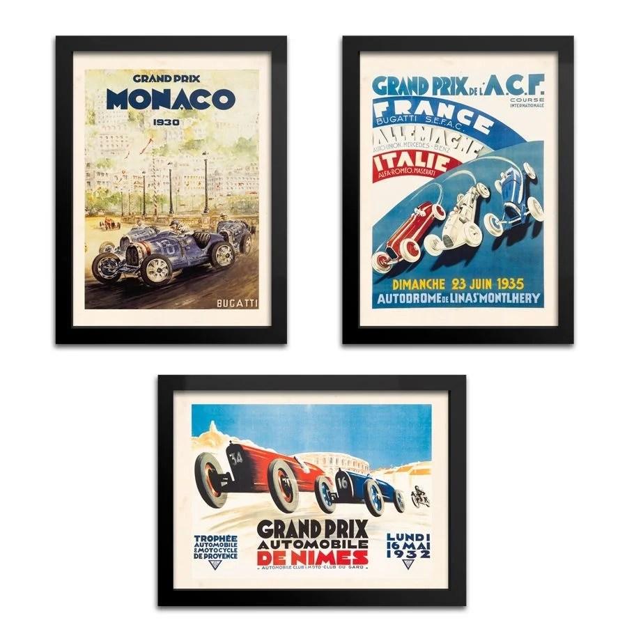 Kit Quadros Carros Grand Prix
