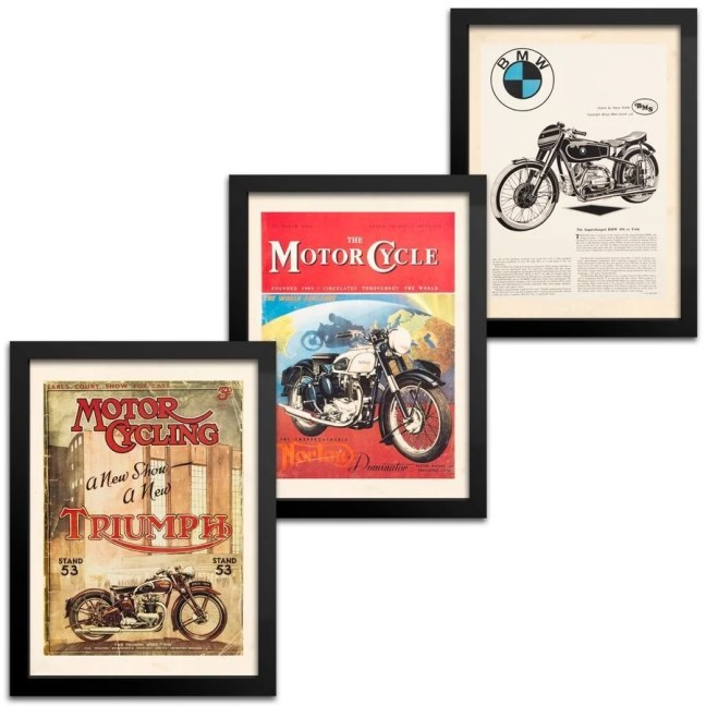 quadros moto vintage bmw norton triumph