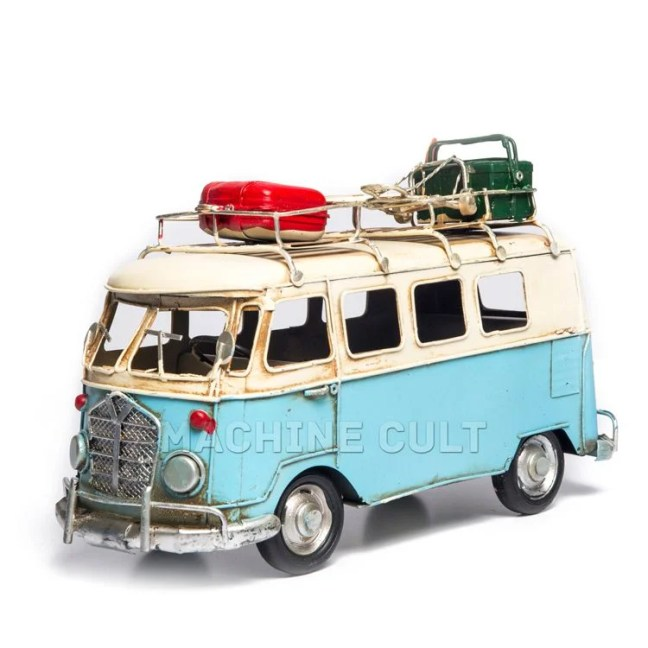 Miniatura Perua Kombi Volkswagen Azul