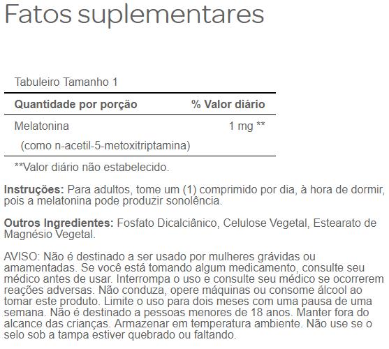 Melatonina 1mg Puritans Pride, 90 Comprimidos – Leve 1 Frasco
