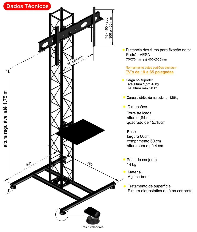 Pedestal para Tv de chão ,tela plana e tela curva,para tv