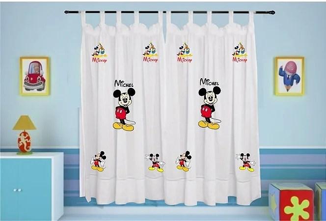 Cortina Infantil Personalizada  Mickey  Estampa do Seu jeito