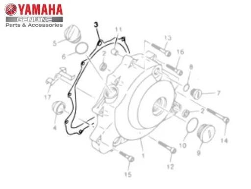 GAXETA ( JUNTA ) DA TAMPA ESQUERDA DO MOTOR PARA XVS650