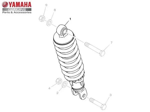 Amortecedor Traseiro Fazer 250 2013/17 Yamaha Original