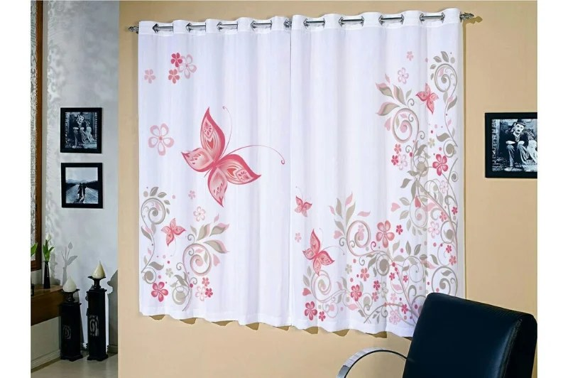Cortina Corta Luz Blackout Estampada P Sala ou Quarto