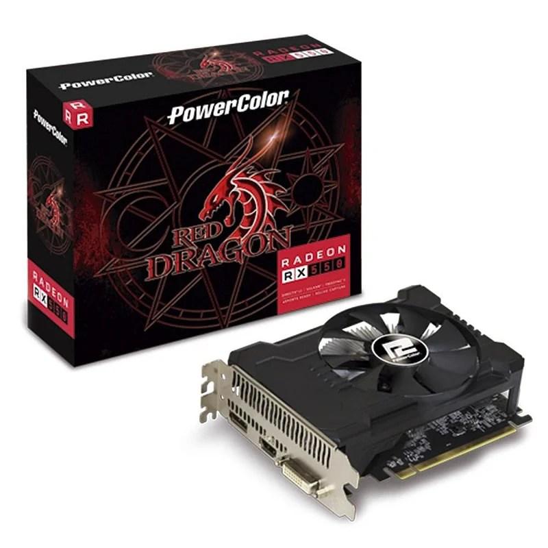 PLACA DE VÍDEO POWERCOLOR RADEON RX 550 2GB. GDDR5. RED DRAGON. AMD - AXRX 550 2GBD5-DHA/OC - Ciapc - Sua Loja de Informática na Santa Efigênia