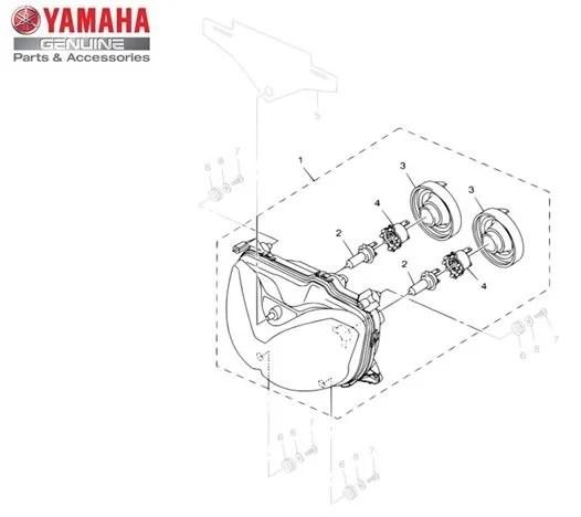 Farol Dianteiro Conjunto Yamaha XT 250 Z Ténéré 2011/14