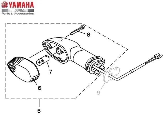 Pisca Dianteiro Direito Conjunto (Lente Cristal) Yamaha XT