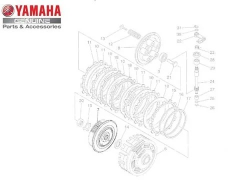 Cubo da Embreagem para Yamaha XT 660 Z Ténéré XT-660R