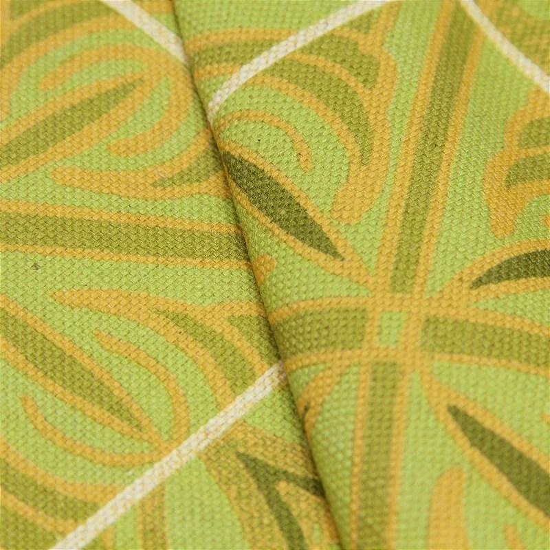 Tecido linho Impermeabilizado Ladrilho Hidrulico Verde com Mostarda  Site de tecidos para sof cortinas papel de parede e mveis