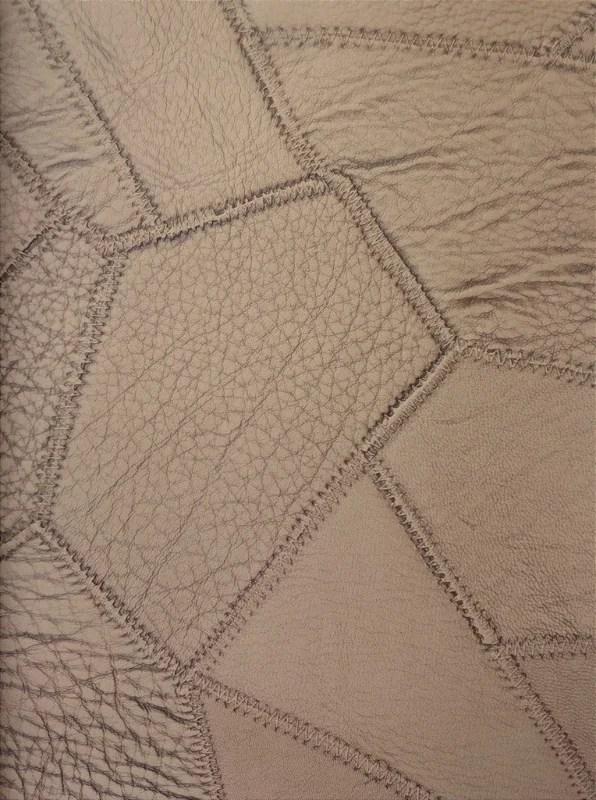 Tecido courvin costurado Ocre  04  Site de tecidos para