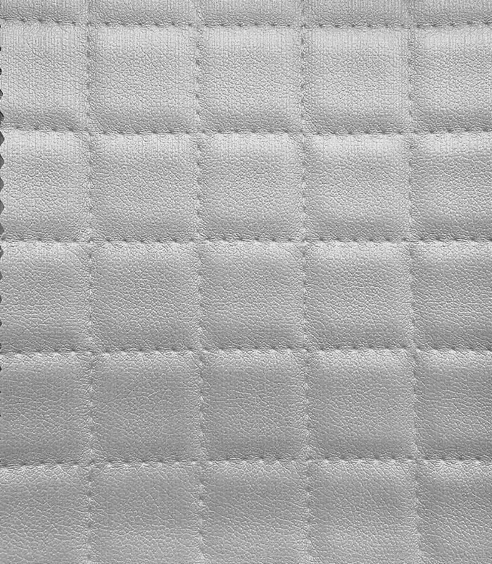 Tecido courvin estilo perfurado leve brilho Cinza Claro