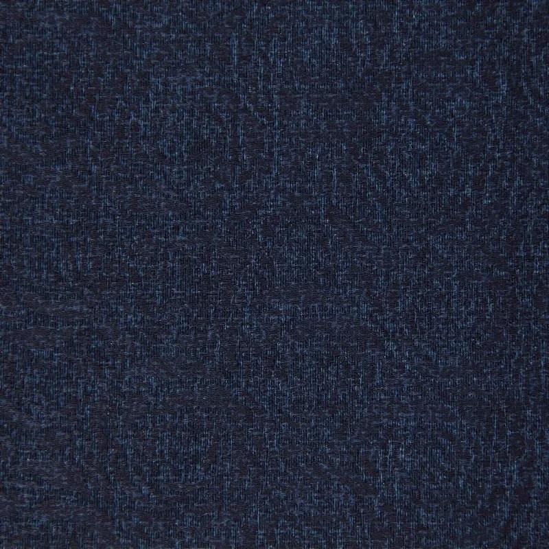 Tecido Jacard Impermeabilizado Rosas em Azul Marinho