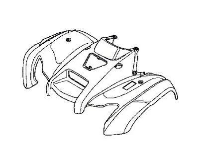 Carenagem Dianteira Honda Fourtrax 420 (2008 até 2013