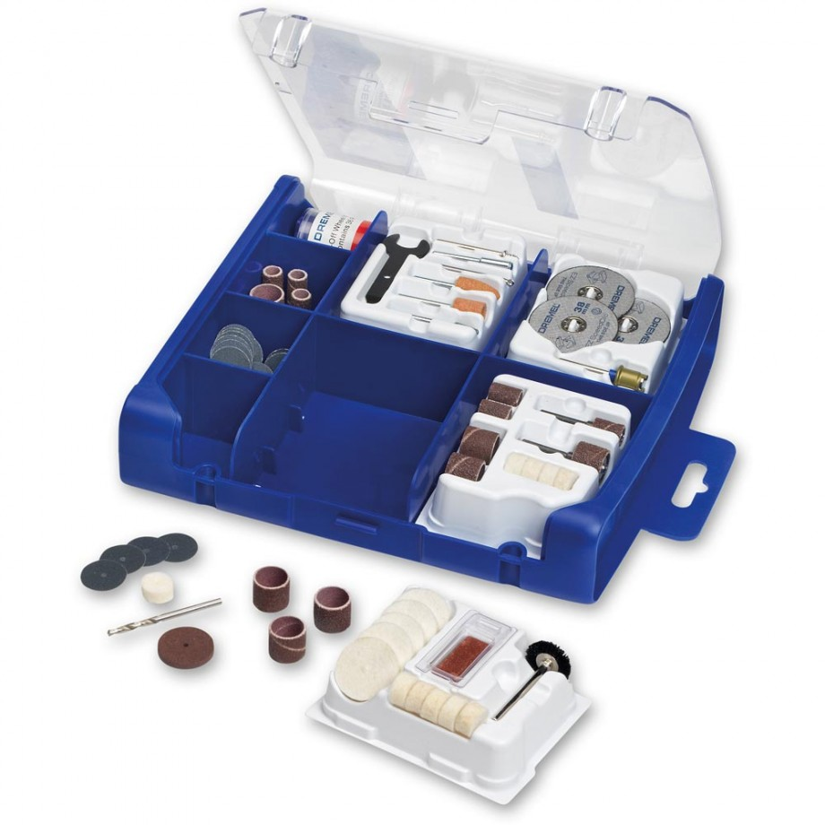 hight resolution of dremel 100 piece multi purpose accessory set