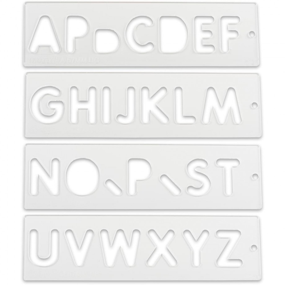 Trend Letter & Number Templates Router Jigs & Templates