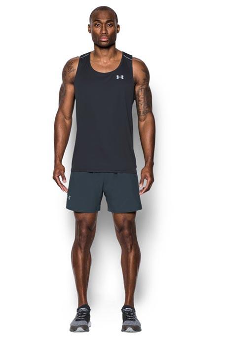 מכנסי ריצה UNDER ARMOUR דגם 1289312-008 לגבר 5 אינצ' בצבע אפור כהה