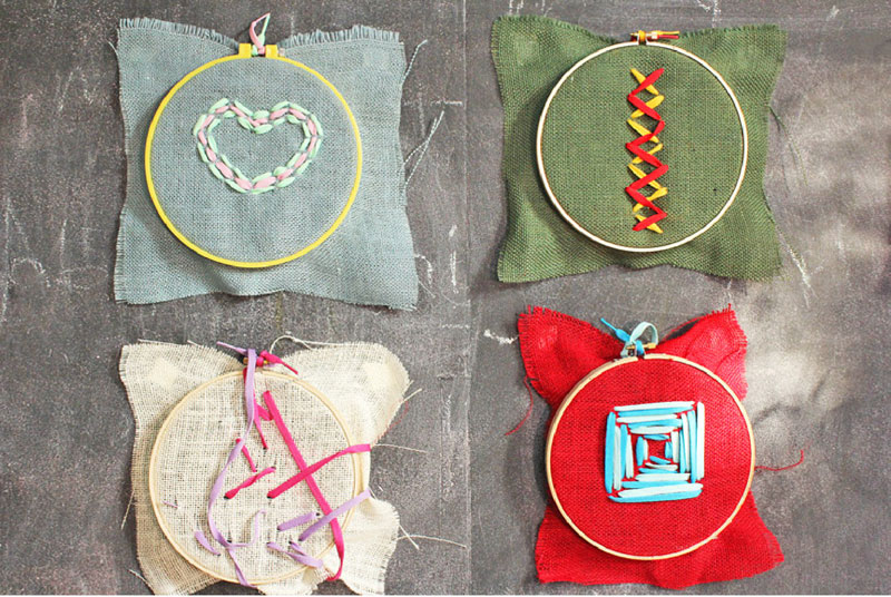 Sewing Ideas For Kids Burlap Embroidery Babble Dabble Do