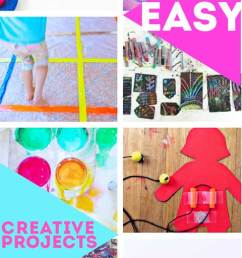 80 easy creative projects for kids including activities art crafts science engineering [ 480 x 1735 Pixel ]