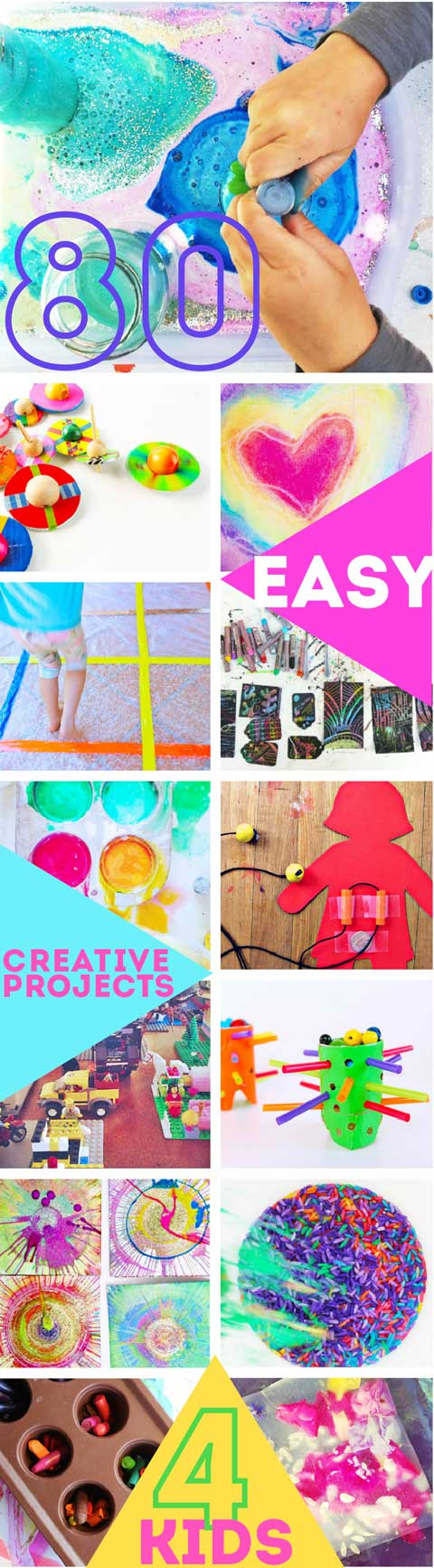 medium resolution of 80 easy creative projects for kids including activities art crafts science engineering