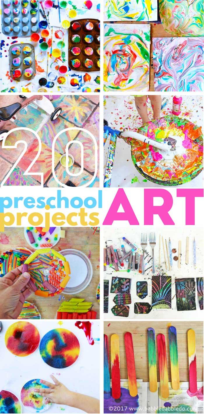 20 Preschool Art Projects Babble Dabble Do