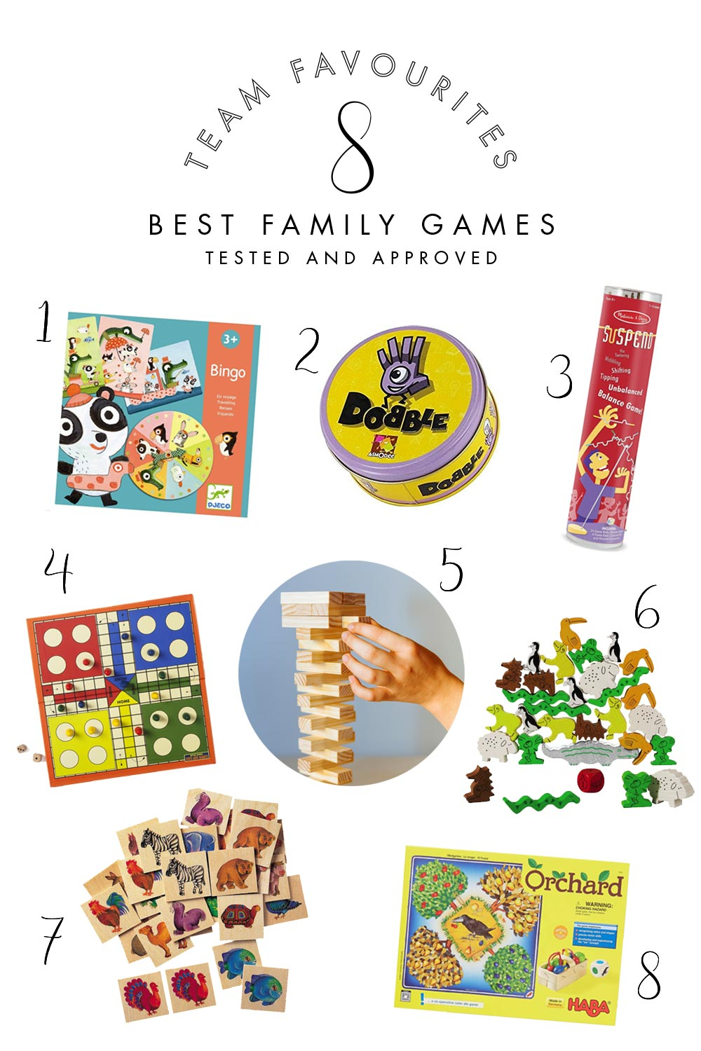 team favourites family games