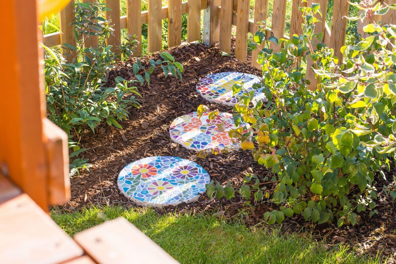 Bezaubernd Mosaik Garten Referenz Von Diy Gehwegplatten FÜr Den Bau